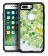 Green WaterColor Texture - iPhone 7 or 7 Plus Commuter Case Skin Kit