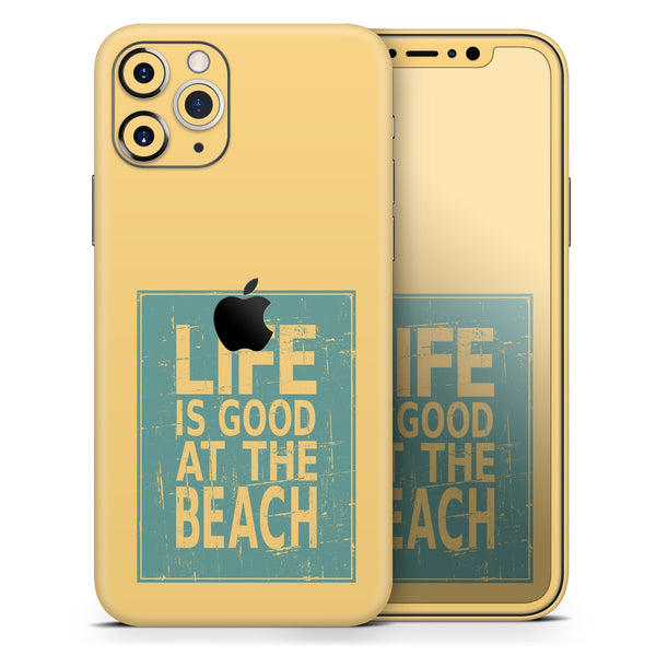 Grungy Life Is Good At The Beach - Skin-Kit compatible with the Apple iPhone 12, 12 Pro Max, 12 Mini, 11 Pro or 11 Pro Max (All iPhones Available)