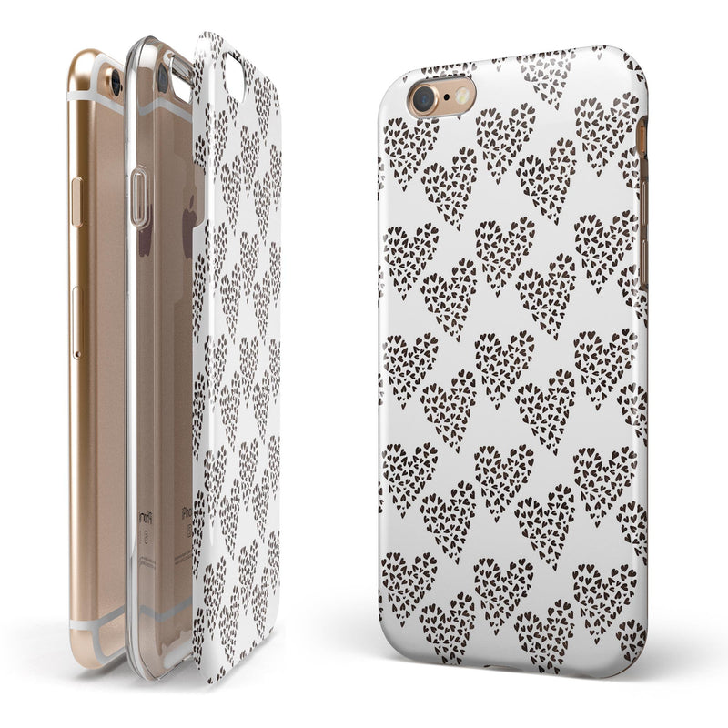 Hearts within Hearts iPhone 6/6s or 6/6s Plus 2-Piece Hybrid INK-Fuzed Case