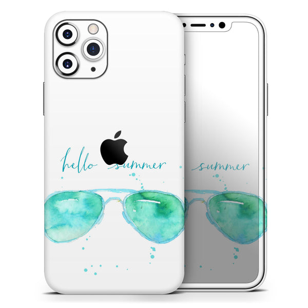 Hello Summer Sunglasses - Skin-Kit compatible with the Apple iPhone 12, 12 Pro Max, 12 Mini, 11 Pro or 11 Pro Max (All iPhones Available)