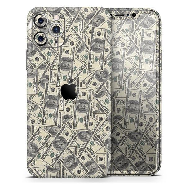 Hundred Dollar Bill - Skin-Kit compatible with the Apple iPhone 12, 12 Pro Max, 12 Mini, 11 Pro or 11 Pro Max (All iPhones Available)