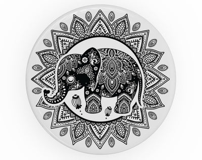 Indian Mandala Elephant - Skin Kit for PopSockets and other Smartphone Extendable Grips & Stands