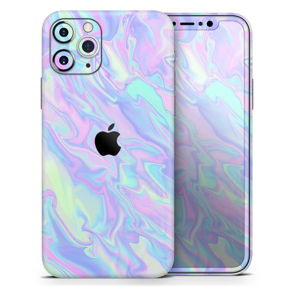 Iridescent Dahlia v1 - Skin-Kit compatible with the Apple iPhone 12, 12 Pro Max, 12 Mini, 11 Pro or 11 Pro Max (All iPhones Available)