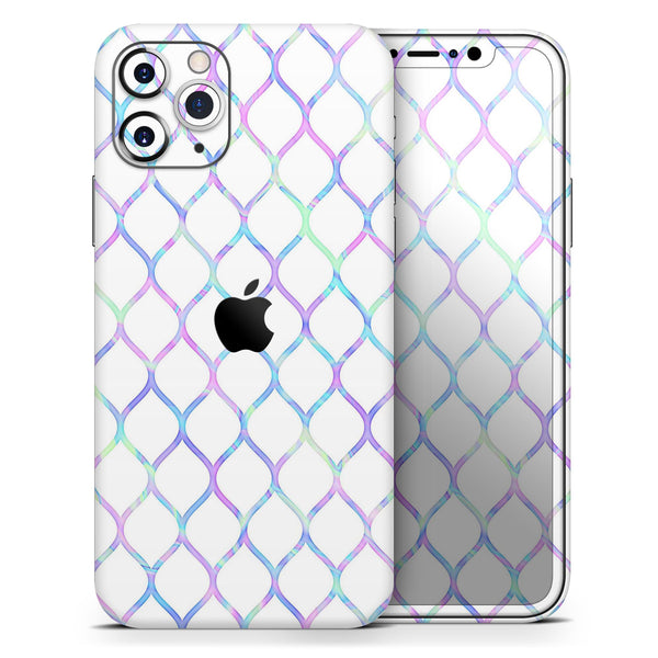 Iridescent Dahlia v7 - Skin-Kit compatible with the Apple iPhone 12, 12 Pro Max, 12 Mini, 11 Pro or 11 Pro Max (All iPhones Available)