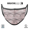 Karamfila Marble & Rose Gold Striped v8 - Made in USA Mouth Cover Unisex Anti-Dust Cotton Blend Reusable & Washable Face Mask with Adjustable Sizing for Adult or Child