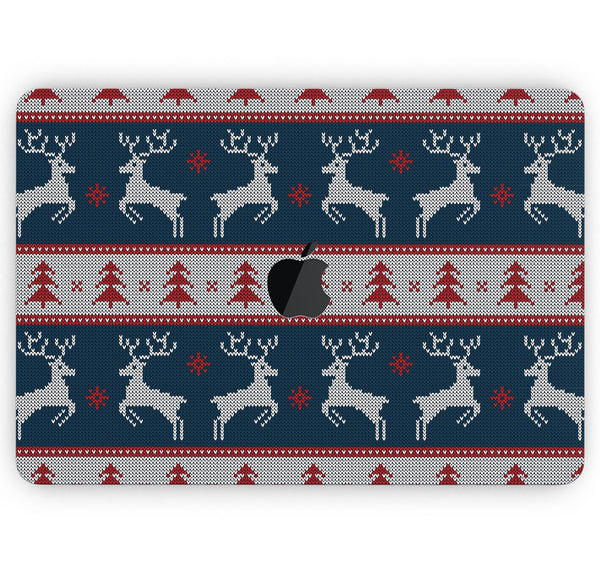"Knitted Ugly Christmas Sweater V3 - Skin Decal Wrap Kit Compatible with the Apple MacBook Pro, Pro with Touch Bar or Air (11"", 12"", 13"", 15"" & 16"" - All Versions Available)"