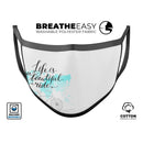 Life is a Beautiful Ride v2 - Made in USA Mouth Cover Unisex Anti-Dust Cotton Blend Reusable & Washable Face Mask with Adjustable Sizing for Adult or Child