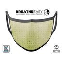 Light Green Grunge Micro Square Pattern - Made in USA Mouth Cover Unisex Anti-Dust Cotton Blend Reusable & Washable Face Mask with Adjustable Sizing for Adult or Child