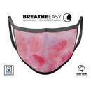 Light Pink 3 Absorbed Watercolor Texture - Made in USA Mouth Cover Unisex Anti-Dust Cotton Blend Reusable & Washable Face Mask with Adjustable Sizing for Adult or Child