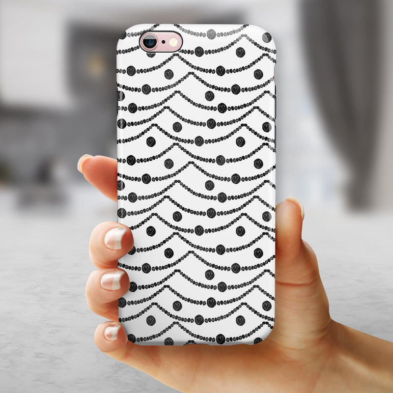 Linked Hearts and Chain iPhone 6/6s or 6/6s Plus 2-Piece Hybrid INK-Fuzed Case