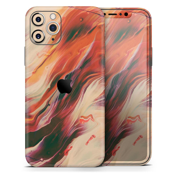 Liquid Abstract Paint Remix V1 - Skin-Kit compatible with the Apple iPhone 12, 12 Pro Max, 12 Mini, 11 Pro or 11 Pro Max (All iPhones Available)