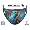 Liquid Abstract Paint Remix V28 - Made in USA Mouth Cover Unisex Anti-Dust Cotton Blend Reusable & Washable Face Mask with Adjustable Sizing for Adult or Child