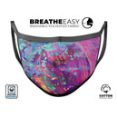 Liquid Abstract Paint Remix V41 - Made in USA Mouth Cover Unisex Anti-Dust Cotton Blend Reusable & Washable Face Mask with Adjustable Sizing for Adult or Child