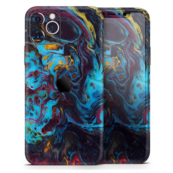 Liquid Abstract Paint Remix V43 - Skin-Kit compatible with the Apple iPhone 12, 12 Pro Max, 12 Mini, 11 Pro or 11 Pro Max (All iPhones Available)