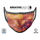 Liquid Abstract Paint Remix V70 - Made in USA Mouth Cover Unisex Anti-Dust Cotton Blend Reusable & Washable Face Mask with Adjustable Sizing for Adult or Child