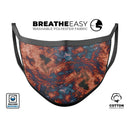 Liquid Abstract Paint Remix V81 - Made in USA Mouth Cover Unisex Anti-Dust Cotton Blend Reusable & Washable Face Mask with Adjustable Sizing for Adult or Child