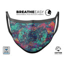 Liquid Abstract Paint Remix V91 - Made in USA Mouth Cover Unisex Anti-Dust Cotton Blend Reusable & Washable Face Mask with Adjustable Sizing for Adult or Child