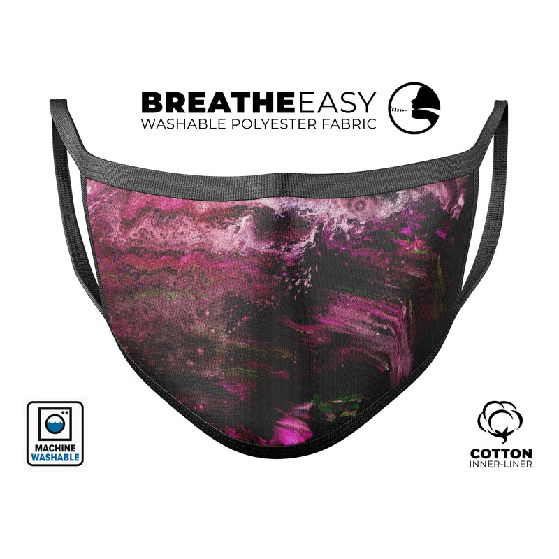 Liquid Abstract Paint V23 - Made in USA Mouth Cover Unisex Anti-Dust Cotton Blend Reusable & Washable Face Mask with Adjustable Sizing for Adult or Child