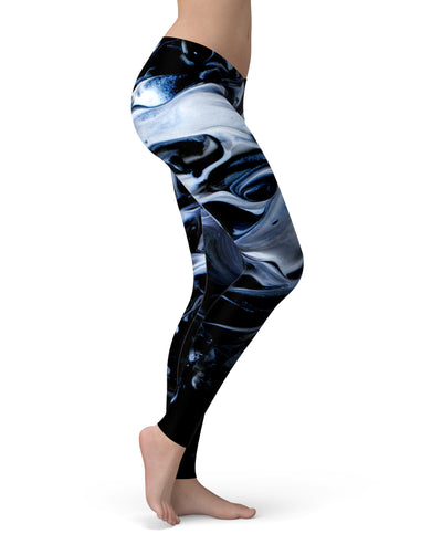 Liquid Abstract Paint V77 - All Over Print Womens Leggings / Yoga or Workout Pants
