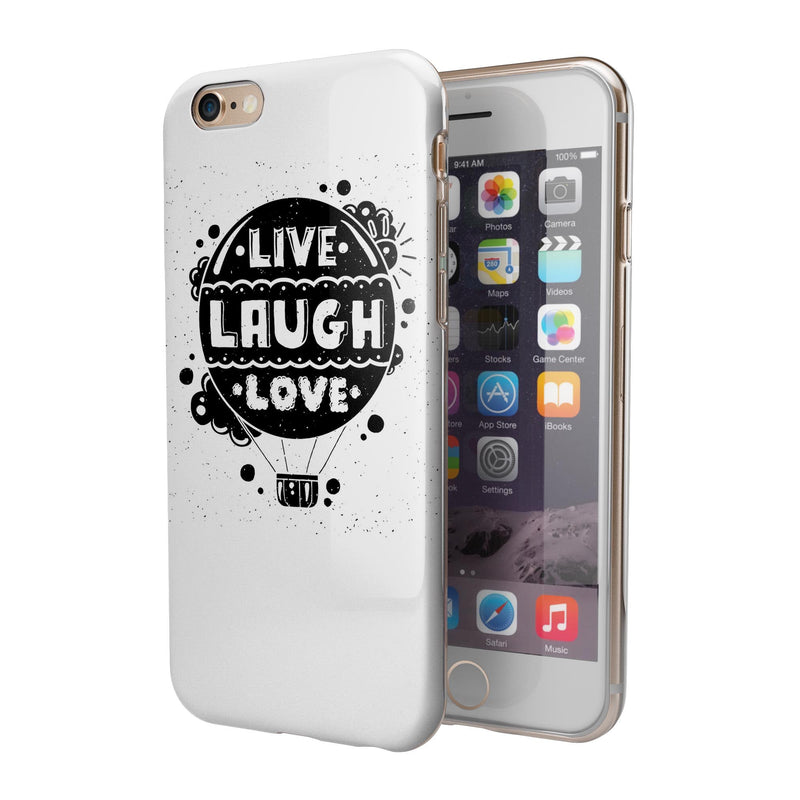 Live Laugh Love iPhone 6/6s or 6/6s Plus 2-Piece Hybrid INK-Fuzed Case