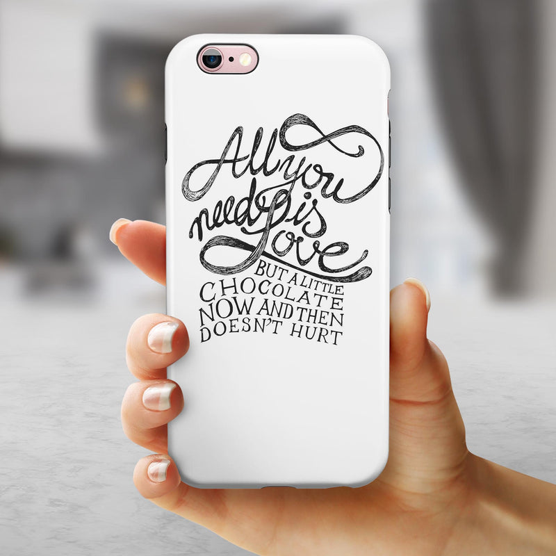 Love and Chocolate iPhone 6/6s or 6/6s Plus 2-Piece Hybrid INK-Fuzed Case