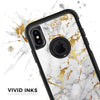 Marble & Digital Gold Foil V5 - Skin Kit for the iPhone OtterBox Cases