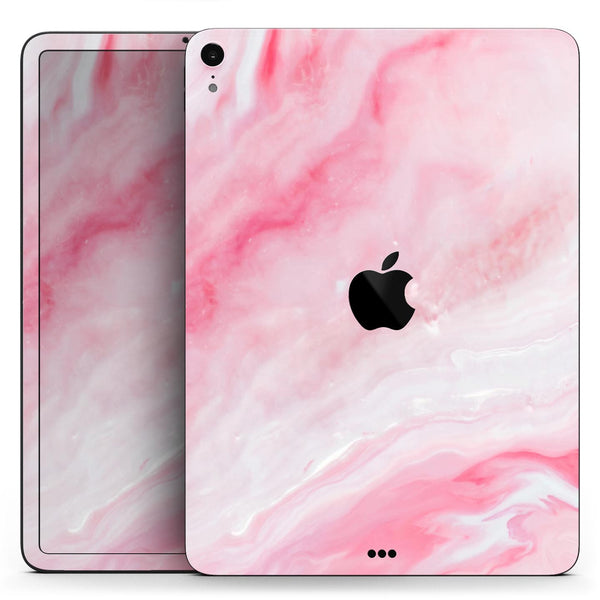 "Marbleized Pink Paradise V6 - Full Body Skin Decal for the Apple iPad Pro 12.9"", 11"", 10.5"", 9.7"", Air or Mini (All Models Available)"
