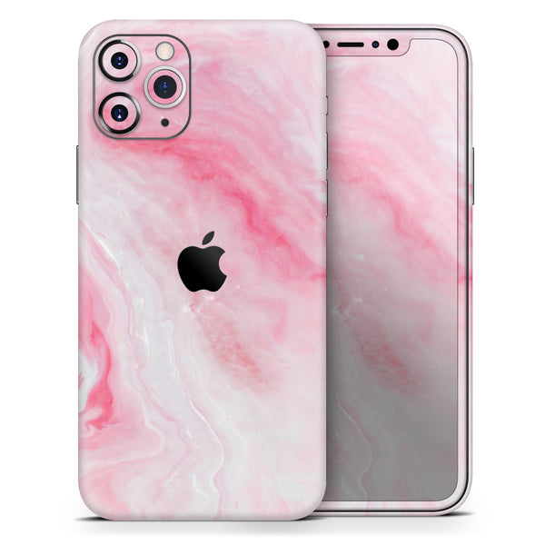 Marbleized Pink Paradise V6 - Skin-Kit compatible with the Apple iPhone 12, 12 Pro Max, 12 Mini, 11 Pro or 11 Pro Max (All iPhones Available)