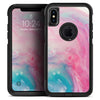 Marbleized Pink and Blue Paradise V712 - Skin Kit for the iPhone OtterBox Cases