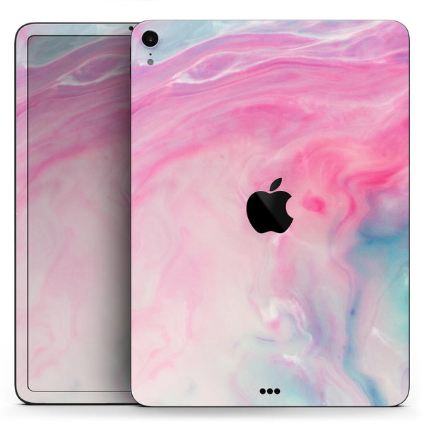 "Marbleized Pink and Blue Paradise V712 - Full Body Skin Decal for the Apple iPad Pro 12.9"", 11"", 10.5"", 9.7"", Air or Mini (All Models Available)"