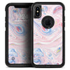 Marbleized Pink and Blue Swirl V2123 - Skin Kit for the iPhone OtterBox Cases