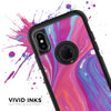 Marbleized Pink and Blue v391 - Skin Kit for the iPhone OtterBox Cases