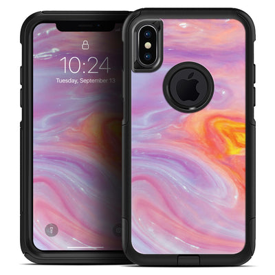 Marbleized Pink and Purple Paradise V2 - Skin Kit for the iPhone OtterBox Cases