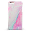 Marbleized Soft Pink iPhone 6/6s or 6/6s Plus INK-Fuzed Case