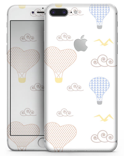 Micro Dot Hot Air Balloon Sketch  - Skin-kit for the iPhone 8 or 8 Plus