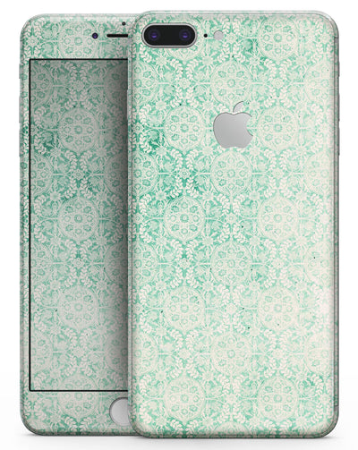 Micro Faded Green Damask Pattern - Skin-kit for the iPhone 8 or 8 Plus