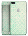 Micro Faded Teal Rococo Pattern - Skin-kit for the iPhone 8 or 8 Plus