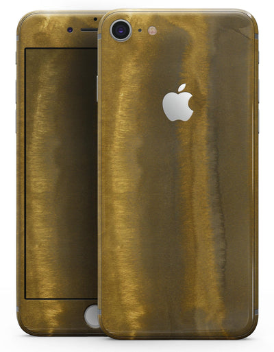 Micro Gold Watercolor Strokes - Skin-kit for the iPhone 8 or 8 Plus