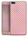 Micro Golden Diamonds Over Pink - Skin-kit for the iPhone 8 or 8 Plus