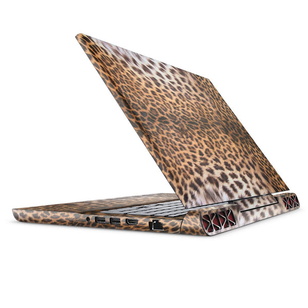 Mirrored Leopard Hide - Full Body Skin Decal Wrap Kit for the Dell Inspiron 15 7000 Gaming Laptop (2017 Model)