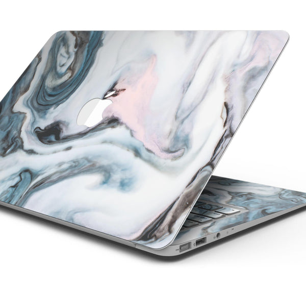 "Modern Marble Subtle Blue Mix V2 - Skin Decal Wrap Kit Compatible with the Apple MacBook Pro, Pro with Touch Bar or Air (11"", 12"", 13"", 15"" & 16"" - All Versions Available)"