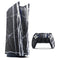 Natural Black & White Marble Stone - Full Body Skin Decal Wrap Kit for Sony Playstation 5, Playstation 4, Playstation 3, & Controllers