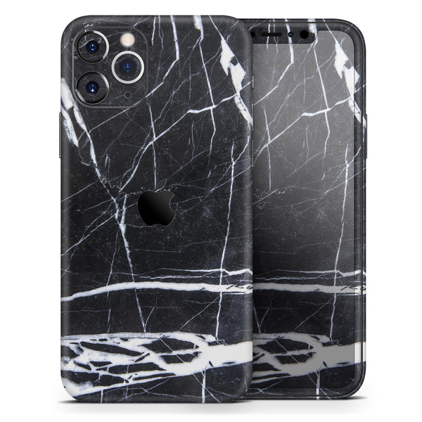 Natural Black & White Marble Stone - Skin-Kit for the Apple iPhone 11, 11 Pro or 11 Pro Max