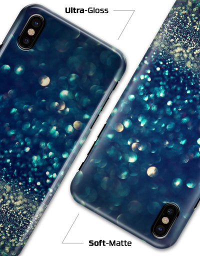 Navy and Gold Unfocused Sparkles of Light - iPhone X Clipit Case