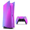 Neon Holographic V1 - Full Body Skin Decal Wrap Kit for Sony Playstation 5, Playstation 4, Playstation 3, & Controllers