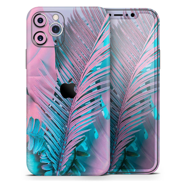Neon Retro Paint Forest V1 - Skin-Kit for the Apple iPhone 11, 11 Pro or 11 Pro Max