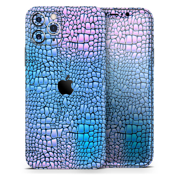 Neon Vibrant Snake Skin Pattern - Skin-Kit for the Apple iPhone 11, 11 Pro or 11 Pro Max