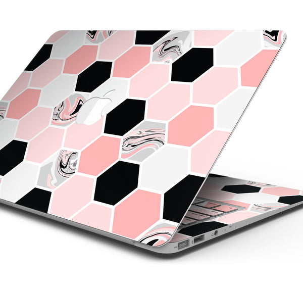 "Pale Pink Hex copy - Skin Decal Wrap Kit Compatible with the Apple MacBook Pro, Pro with Touch Bar or Air (11"", 12"", 13"", 15"" & 16"" - All Versions Available)"