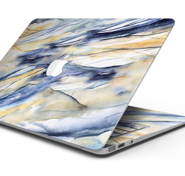 "Papered Slate - Skin Decal Wrap Kit Compatible with the Apple MacBook Pro, Pro with Touch Bar or Air (11"", 12"", 13"", 15"" & 16"" - All Versions Available)"