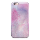Pink 917 Absorbed Watercolor Texture iPhone 6/6s or 6/6s Plus 2-Piece Hybrid INK-Fuzed Case